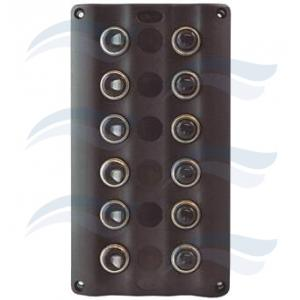 PANEL ELECTRICO  LED  ON/OFF 6 inter